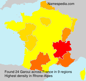 Surname Garoui in France