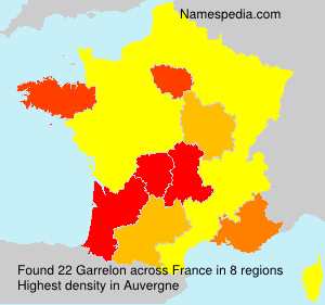 Surname Garrelon in France