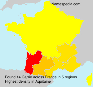 Surname Garrie in France
