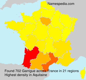 Surname Garrigue in France
