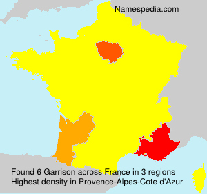Surname Garrison in France