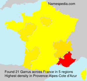 Surname Garrus in France