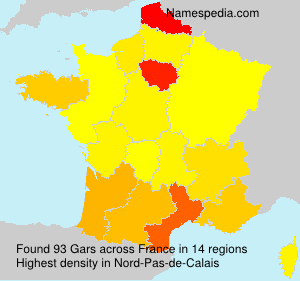 Surname Gars in France