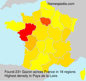 Surname Gazon in France