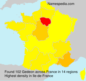 Surname Gedeon in France