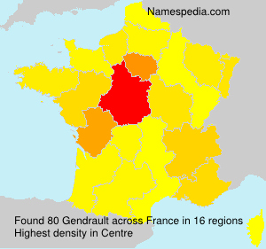 Surname Gendrault in France