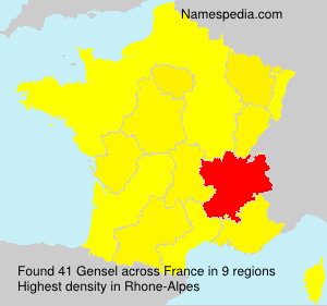 Surname Gensel in France