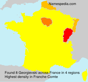 Surname Georgievski in France