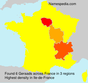 Surname Geraads in France