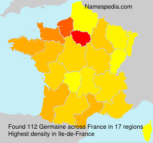 Surname Germaine in France