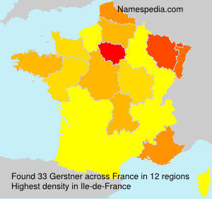 Surname Gerstner in France