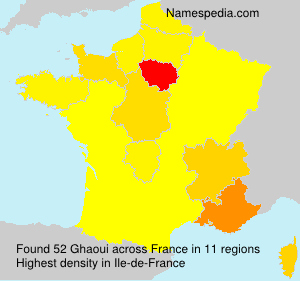 Surname Ghaoui in France