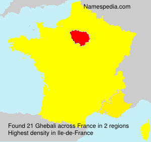 Surname Ghebali in France