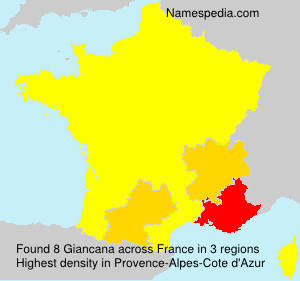 Surname Giancana in France