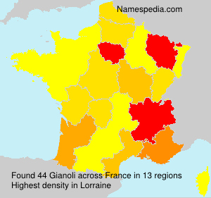Surname Gianoli in France