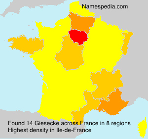 Surname Giesecke in France