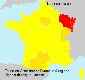 Surname Gitter in France