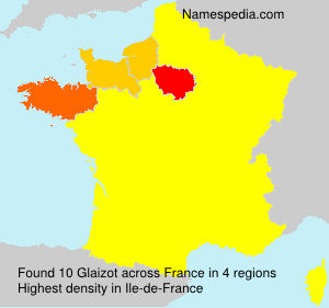 Surname Glaizot in France