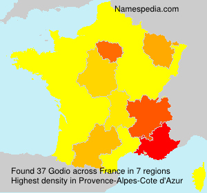 Surname Godio in France