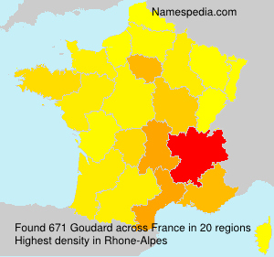 Surname Goudard in France