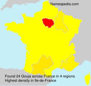 Surname Gouja in France