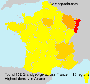 Surname Grandgeorge in France