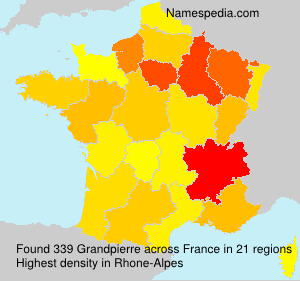 Surname Grandpierre in France