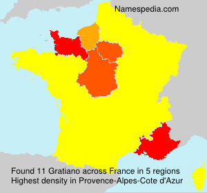Surname Gratiano in France