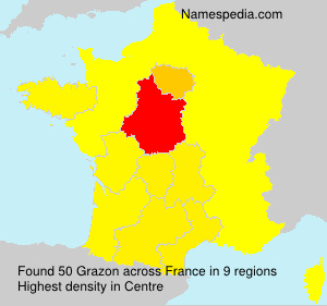 Surname Grazon in France