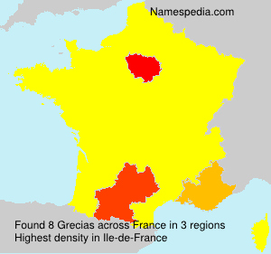 Surname Grecias in France