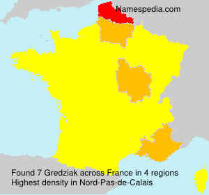 Surname Gredziak in France