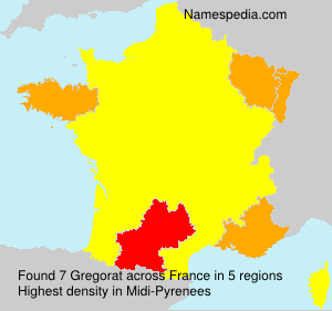 Surname Gregorat in France
