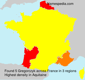 Surname Gregorczyk in France