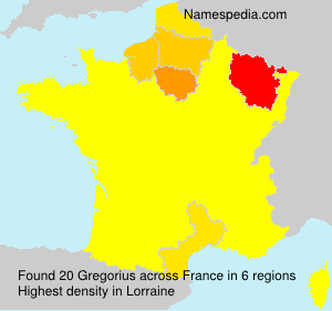 Surname Gregorius in France