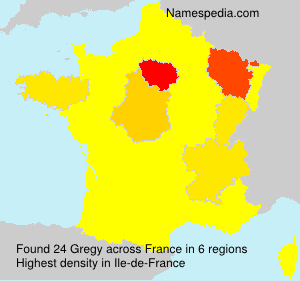 Surname Gregy in France