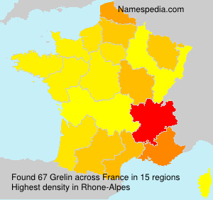 Surname Grelin in France
