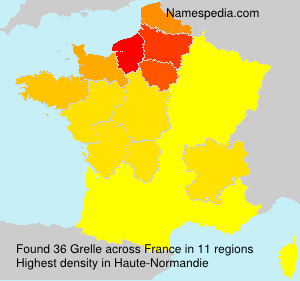 Surname Grelle in France