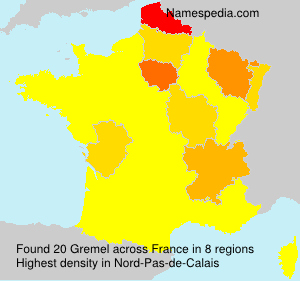 Surname Gremel in France