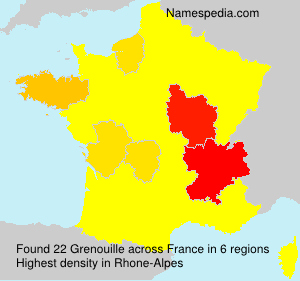 Surname Grenouille in France