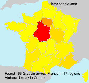 Surname Gressin in France