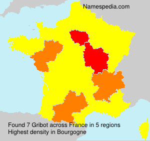 Surname Gribot in France