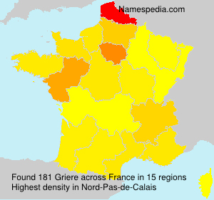 Surname Griere in France