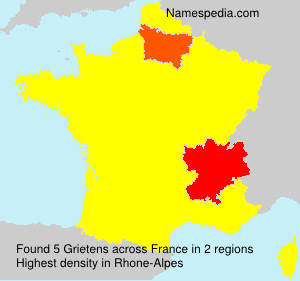 Surname Grietens in France