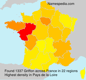 Surname Griffon in France