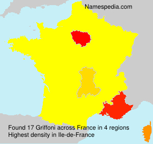 Surname Griffoni in France