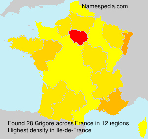 Surname Grigore in France
