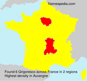 Surname Grigoresco in France