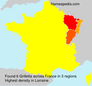 Surname Grilletta in France