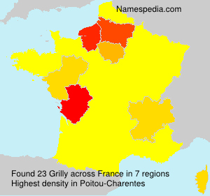 Surname Grilly in France