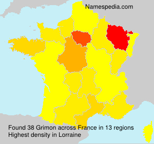 Surname Grimon in France